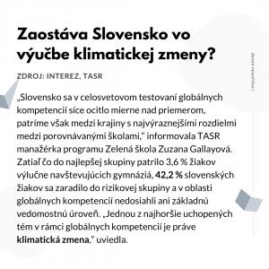 klimanews slovensko vzdelanie